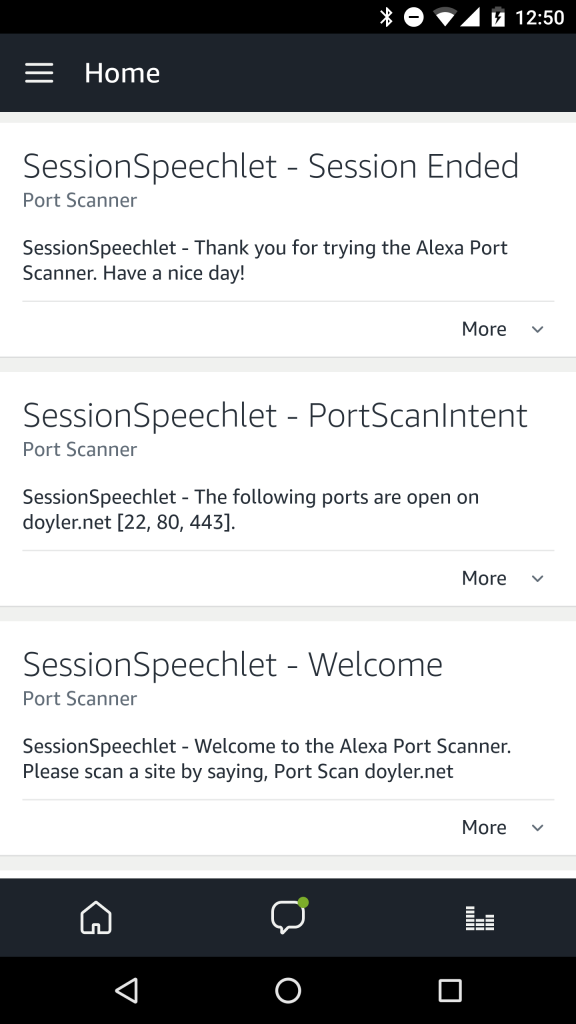 Alexa Port Scanner - Success