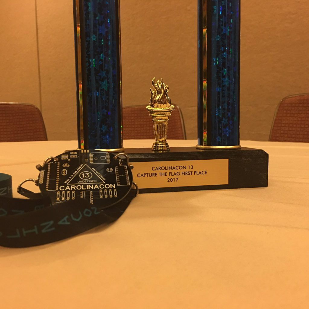 CarolinaCon 13 - CTF Prizes
