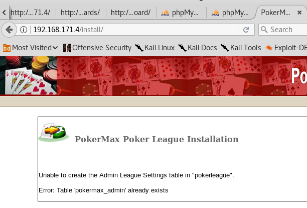 Casino Royale VulnHub - Poker Install