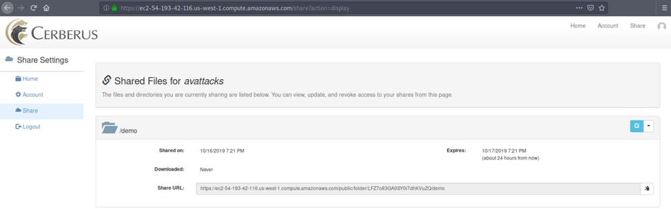Cerberus FTP Vulnerabilities - Share folder
