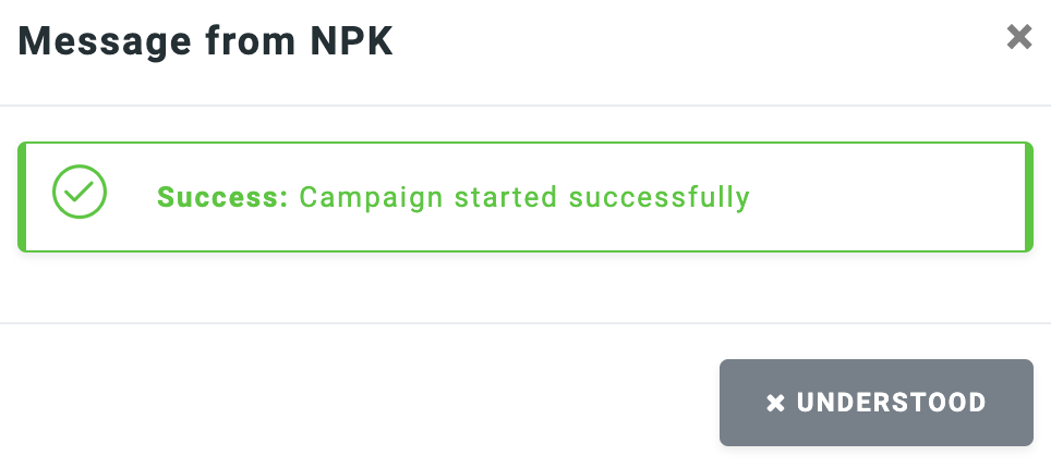 Campaign success