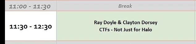 CTFs - BSidesMCR Schedule