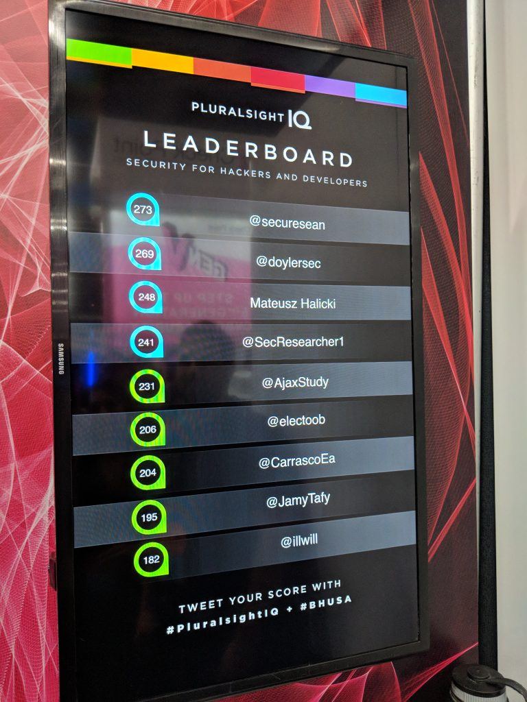 Black Hat / DEF CON - Leaderboard