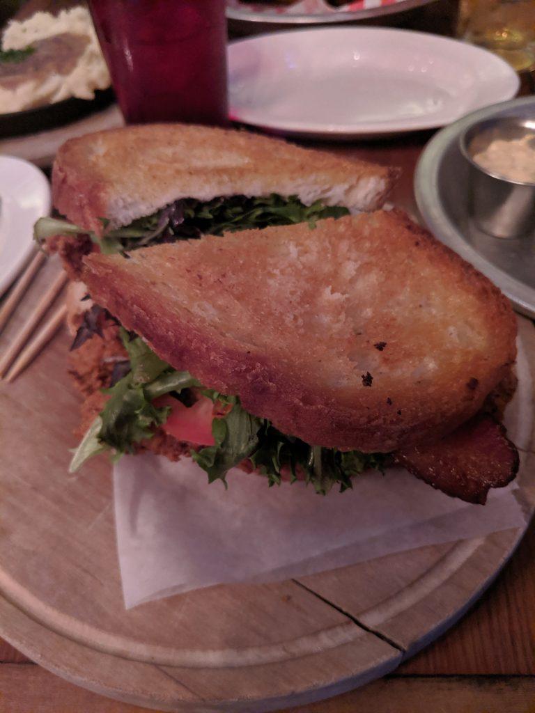First sandwich