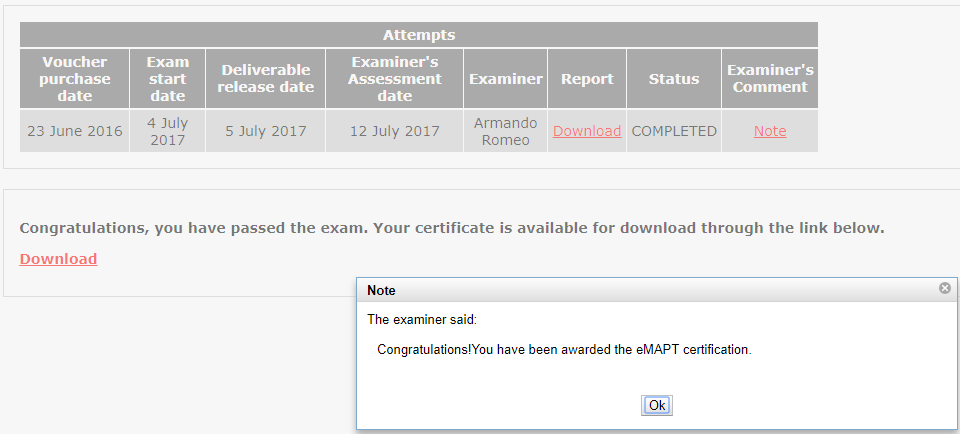 eMAPT Review - Passed
