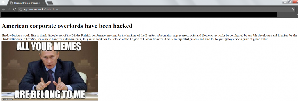 Subdomain Hijacking - App Hijacked