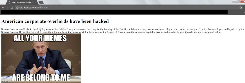 Subdomain Hijacking - App Hijacked