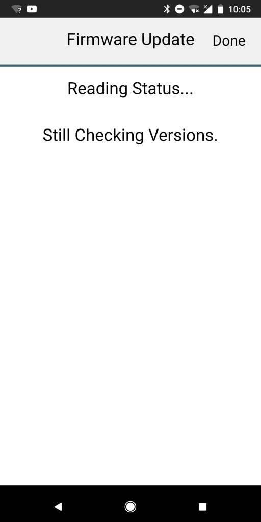 Checking versions