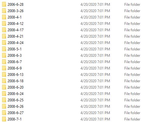 Folder Date Rename Script - Results