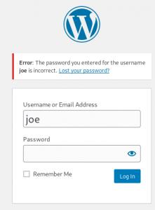 VulnHub Funbox 1 - Joe username enumeration
