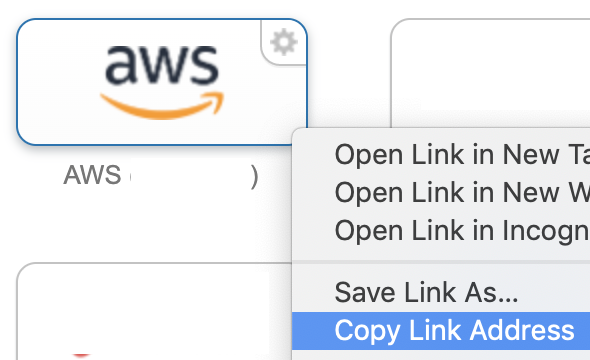 Gimme AWS Creds - Application URL