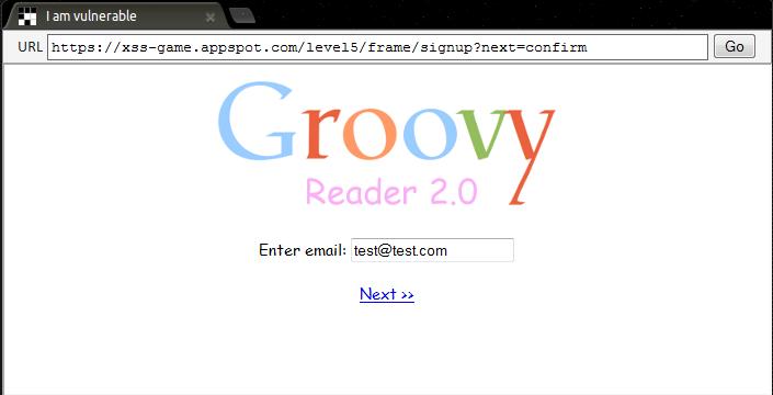 Google XSS - Level 5