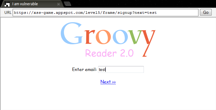 Google XSS - Level 5 Test 2