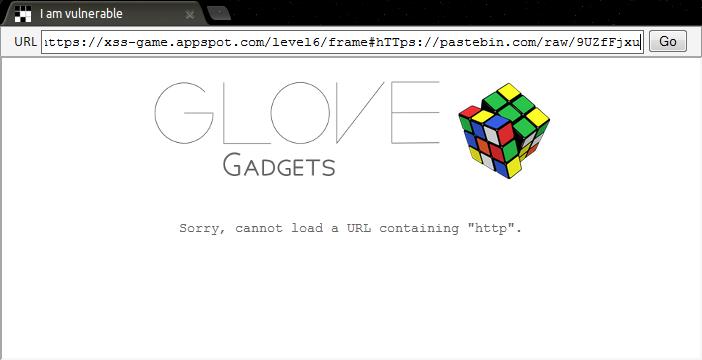 Google XSS - Level 6 XSS