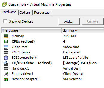 Guacamole Installation - VM Configuration