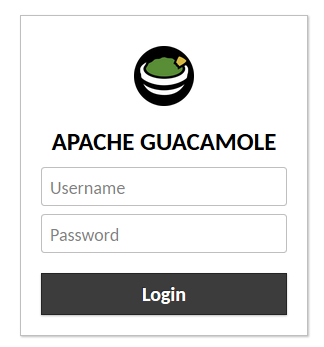 Guacamole Installation - Login Prompt