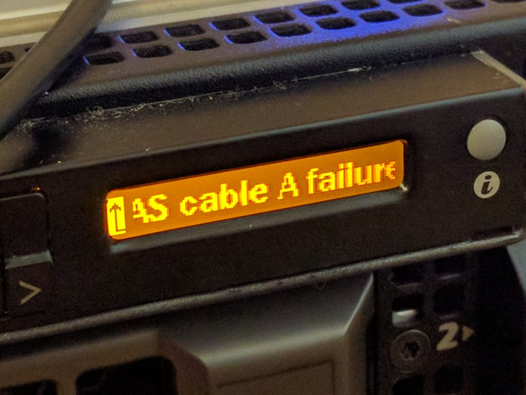 r710 Upgrades - SAS A Failure