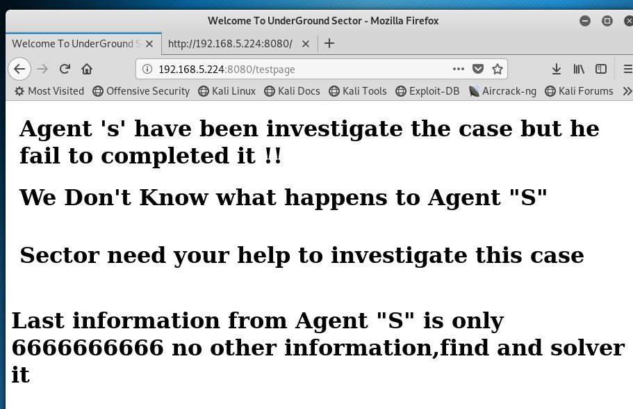 Investigator test page