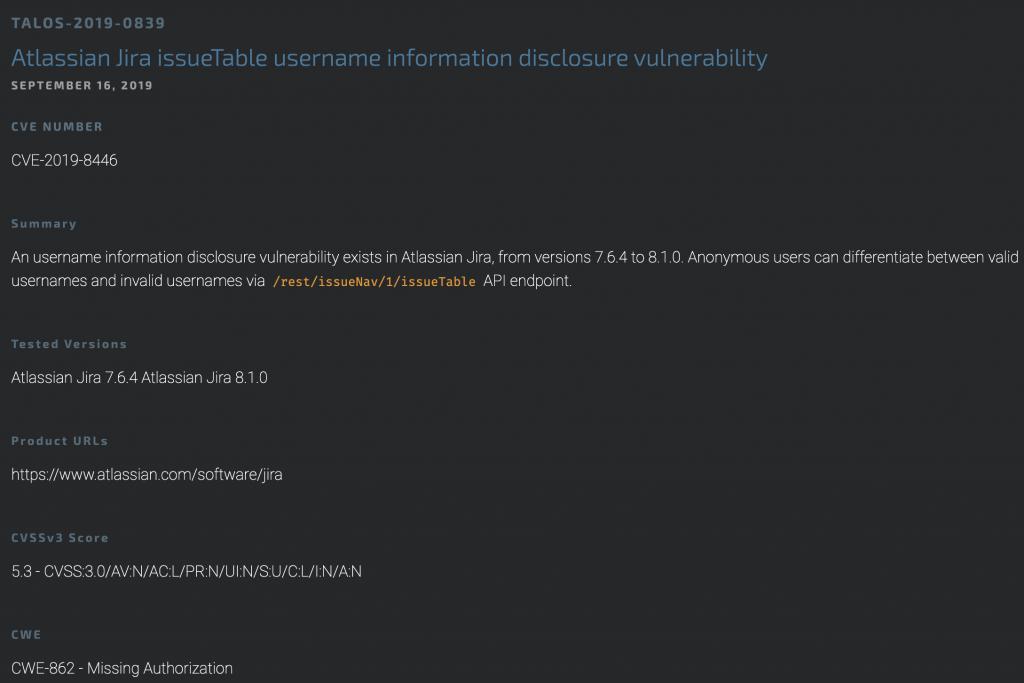 Jira Username Enumeration - Disclosure