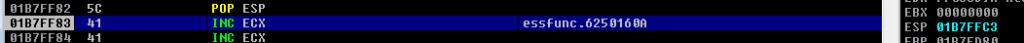 Vulnserver LTER SEH - Current ESP
