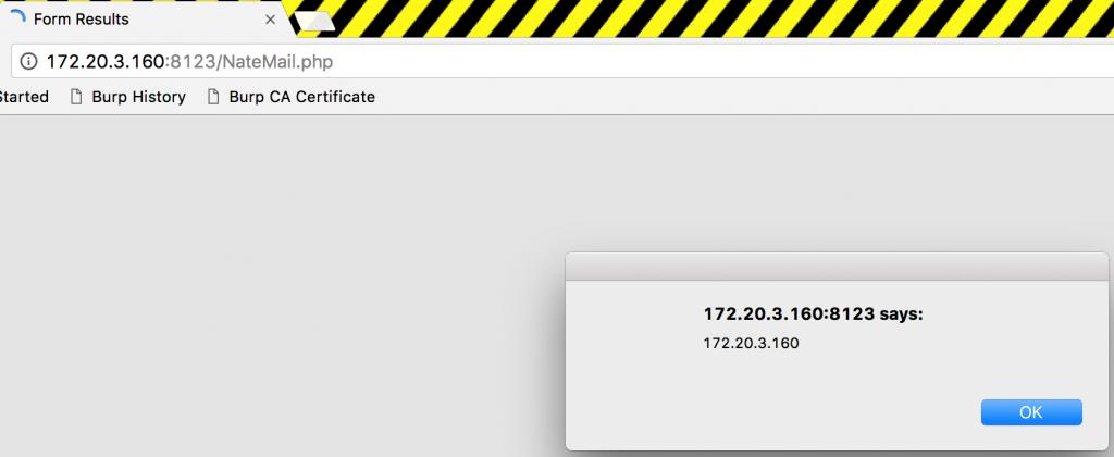 NateMail Vulnerabilities - XSS