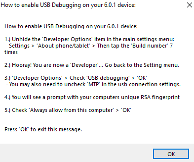 Nexus Root Toolkit - USB Debugging