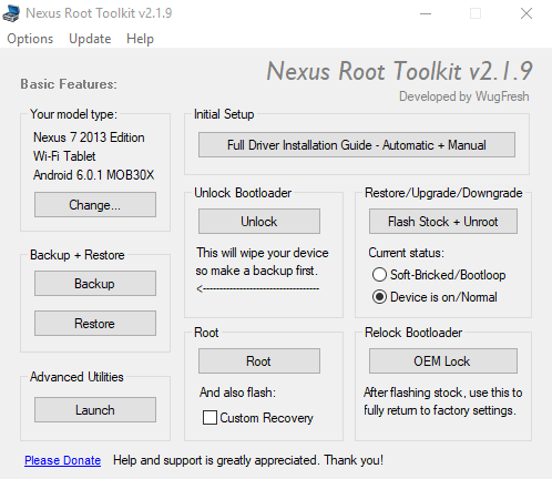 Nexus Root Toolkit - Model set