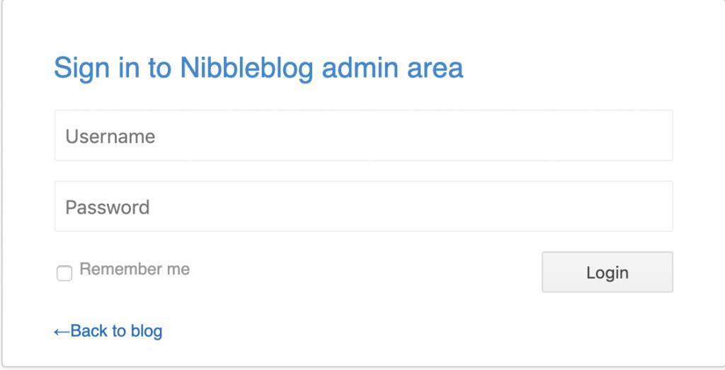 Hack the Box Nibbles - Admin