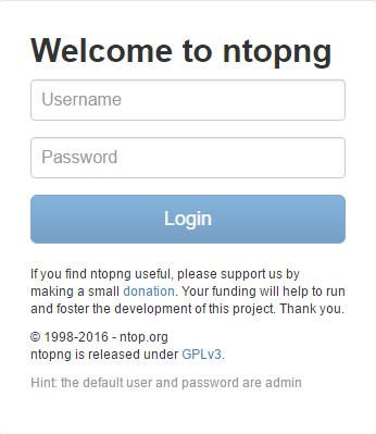 pfSense DNSBL - ntopng Login