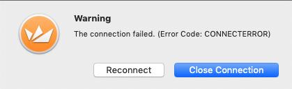 RDP Tunnel - Connection error