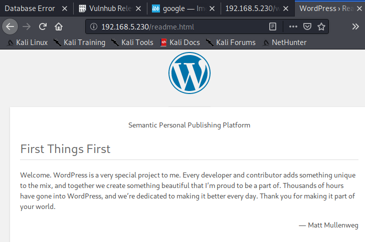 WordPress readme