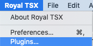 Royal TSX - Plugins
