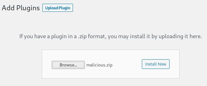 VulnHub Sunset Midnight Walkthrough - Add malicious plugin