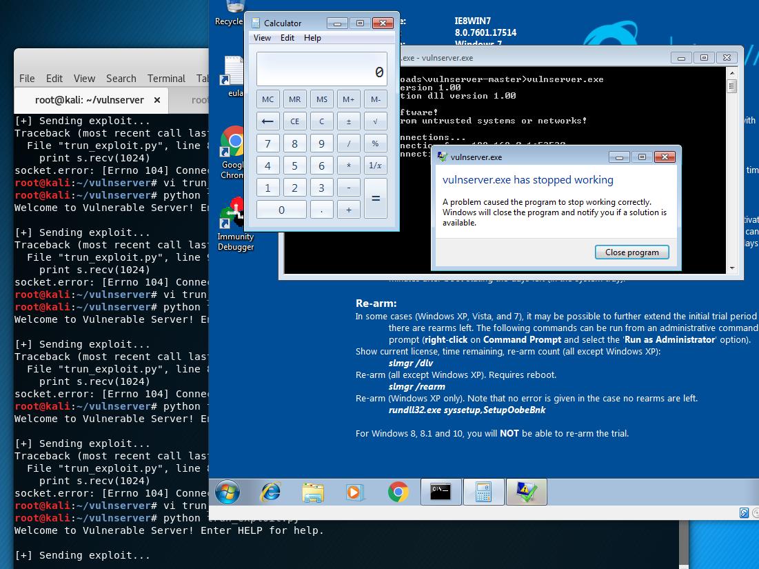 Three Byte Overwrite to Exploit Vulnserver TRUN   doyler net