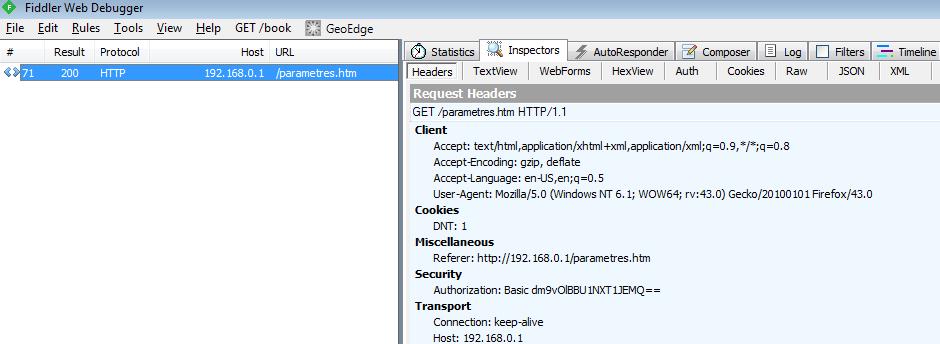 Netgear CG3700b Vulnerabilities - Basic Auth