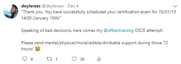 Vulnserver - OSCE Tweet