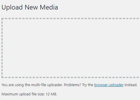 Upload limit increased