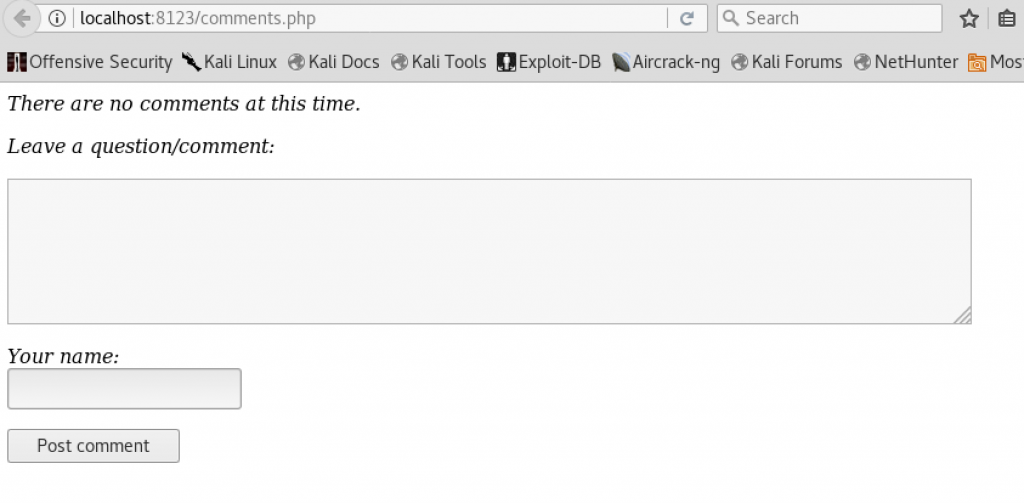 XSS Attack Chain - Comments
