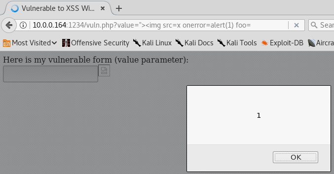 XSS Without Slashes - IMG Alert