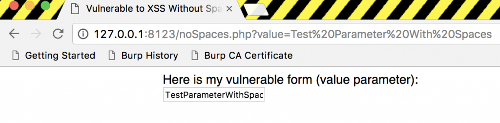 XSS Without Spaces - Filter