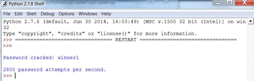 Python Zip Password Cracker - Execution